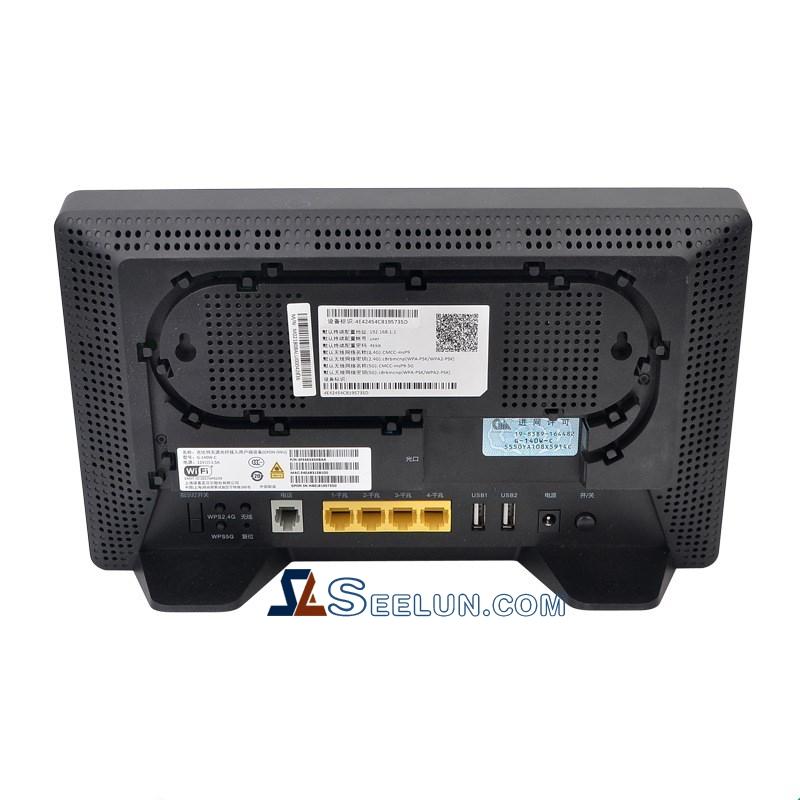 Black Nokia G-140W-C GPON ONU with 4GE + 1POTS + WIFI 2.4/5G Dual-band Wireless for Alcatel Lucent