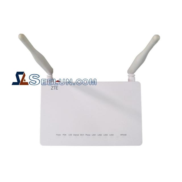ZTE ZXHN F609 V2 GPON ONU wireless ONT Router 1GE+3FE 2tel+5 DBI antennas WIFI, English version